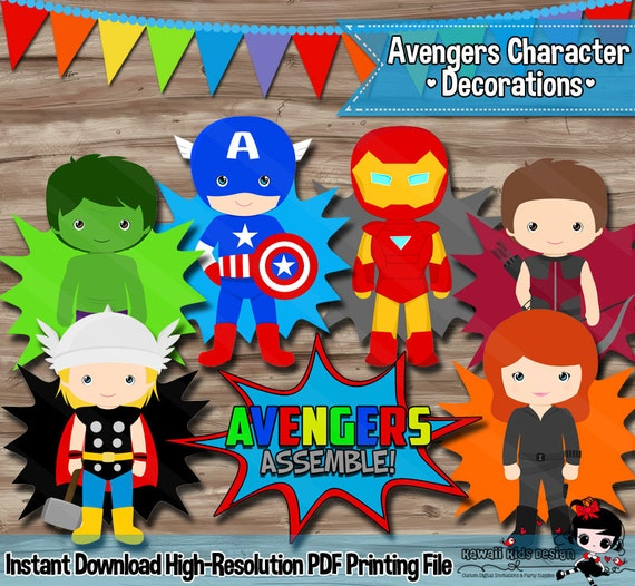 Avengers Party Decorations Superhero Cake Topper Party
