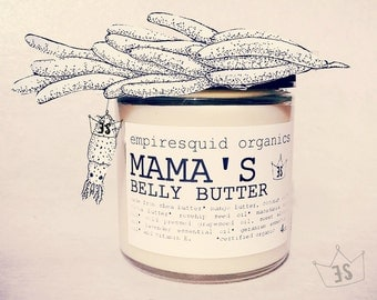 Mama's Organic Belly Butter | Organic Pregnancy Gift | Pregnant Gift | Organic Stretch Mark Cream |  Baby Reveal Gift | New Mother Gift