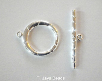 REDUCED 1 x Large Silver Coloured Toggle Clasp 25mm
