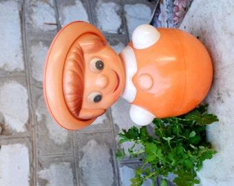 SALE!!!! Roly Poly Doll, Nevalyashka, Vintage Roly-Poly Toy, Ding Doll, Soviet Union ,USSR, soviet toy, plastic doll