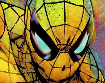 Spider-Man Pop Gold on Giclee Print