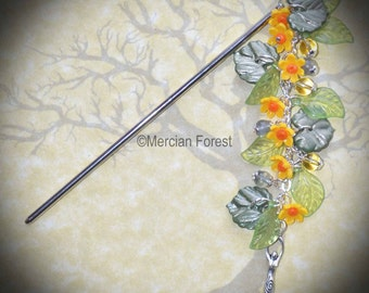 The Eostre Daffodil Hair Stick - Pagan, Wicca, Witch, Ostara, Spring, Equinox