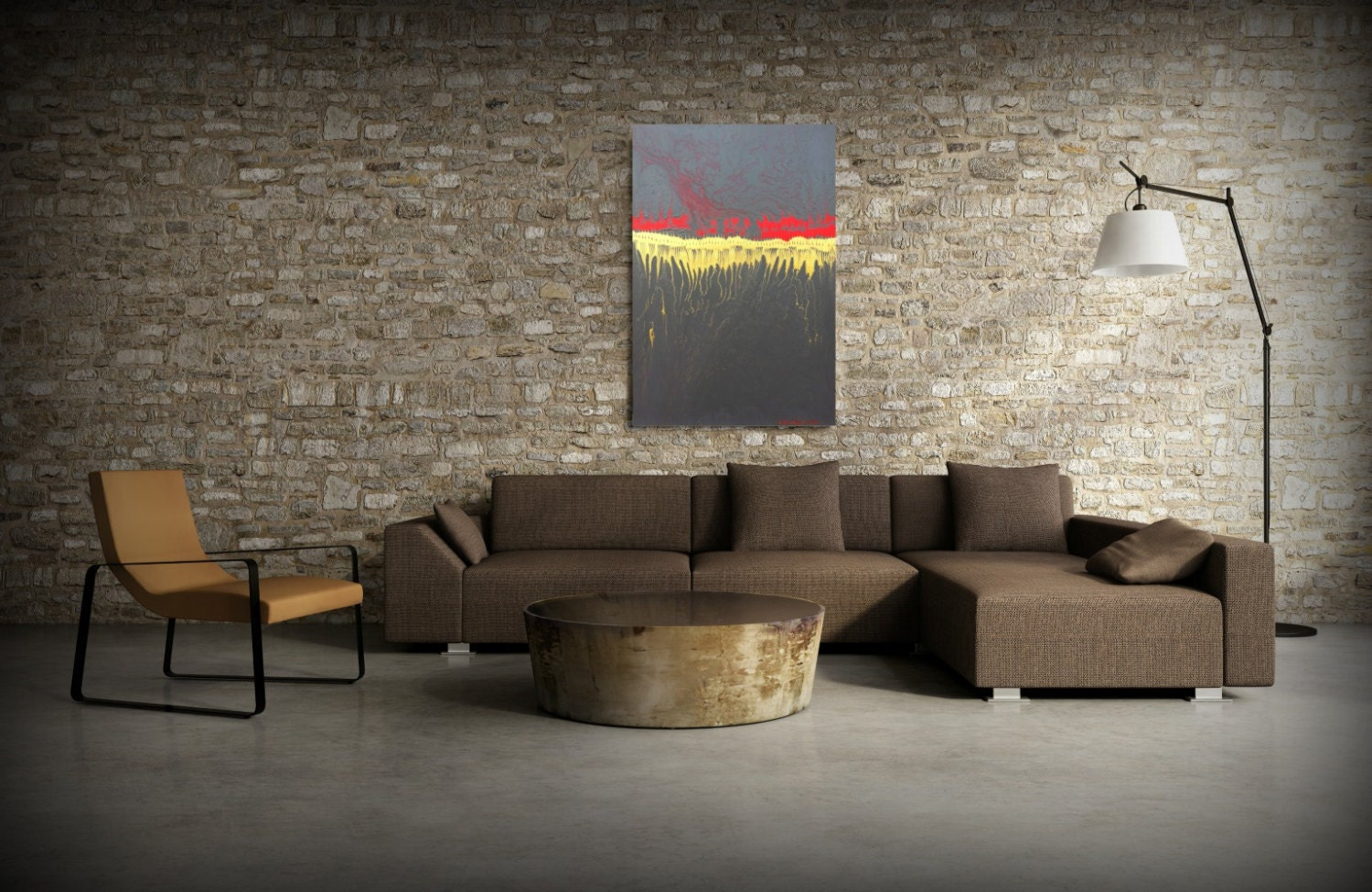 Office Art Painting Acrylic paintings abstract LARGE wall