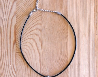 Single Bead Minimalist Choker