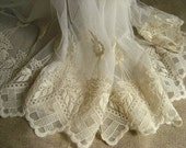 Lace Fabric Trimming Beige lace trim  Exquisite Lace Trim 9.84 Inches by yard
