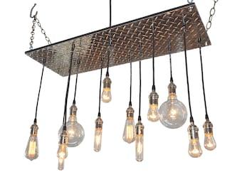 Edison Bulb Lighting: Industrial Chandelier, Game Room Lighting, Industrial Lighting, Pool Table Lighting