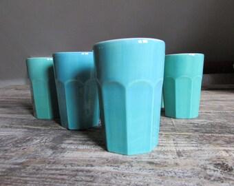 Inidividual Eco coffee tumblers 100% handmade using recycled earthenware clay