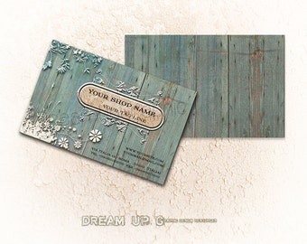 Business Card Template - Business Card - Personal Card - Printable Business Card digital design Design: The Fance Shabby Chic Cottage
