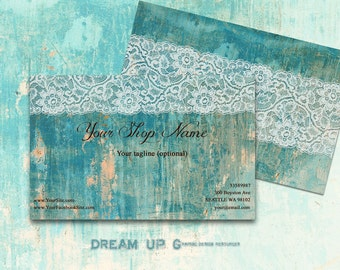 Business Card Template - Business Card - Personal Card - Printable Business Card digital SUPERIOR design n. 113 Shabby Chic Laces