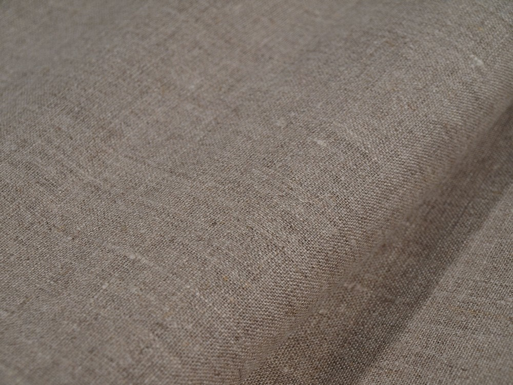 100 Linen Flax Fabric Cloth Unbleached Undyed Taupe Gray