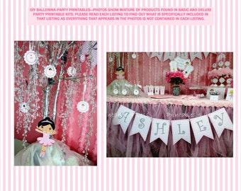 ADD-ON - DIY Ballet Party Package, Ideas For Ballet Birthday Party, Diy Ballerina Party Printables, Ballet Decorations -By Printables 4 Less