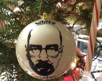 Funny Breaking Bad, Christmas ornament, White Christmas Walter White, ceramic kiln fired