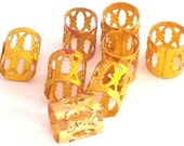 10 x Gold Dreadlock Hair Cuffs Bead Tube  -  for dreads, braids, plaits, twists