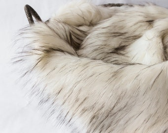 "Husky Ivory Faux Fur Photo Prop, Newborn Photo Prop, Thick 2"" Pile, Baby Photo Prop. Layering Blanket."