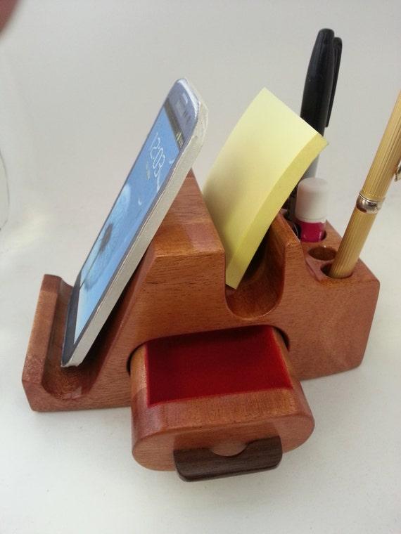 rezeption theke tisch holz organizer handy tablet von woodartboxes. Black Bedroom Furniture Sets. Home Design Ideas