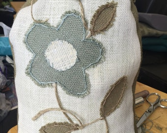 Super cute burlap doorstops custom made for your home