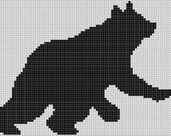Bear 7 Cross Stitch Pattern