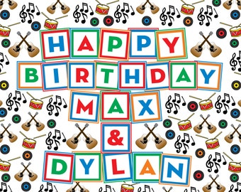 Music/ Rock and Roll Birthday BANNER