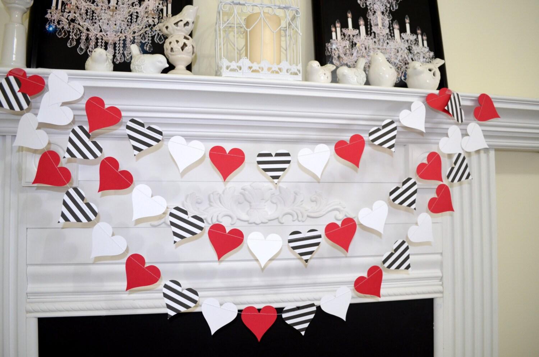 Order a paper heart garland