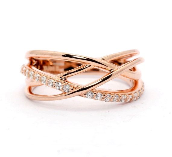 multi band wedding band anniversary ring gold