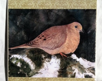 Little Dove-6x6 ceramic tile wall hanging
