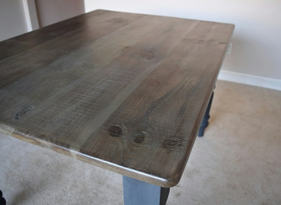 Gray Wash Rustic Farm Table Solid Pine Wood by  : il570xN7158056632cwy from www.etsy.com size 570 x 417 jpeg 34kB