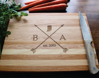 Personalized State Cutting Board, Christmas Gift, Anniversary, Husband Gift, Gift For Him, Gift For Her, Gift For Mom, Wedding, Anniversary