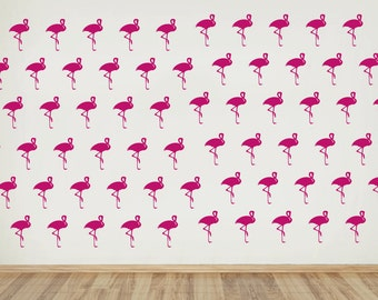 Flamingo Wall Pattern Decal