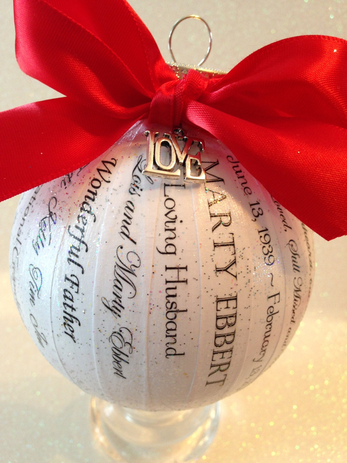 In Loving Memory Ornament Personalized Memory Ornament/In