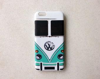Mini Bus Mint iPhone 6 Case, iPhone 6s, iPhone 6 Plus, iPhone 6s Plus, iPhone 5, iPhone 5s, iPhone 4/4s Case, Phone Cover