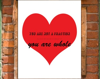 Self Love Acceptance Positive Affirmation Printable Wall Art Decor Print INSTANT DOWNLOAD
