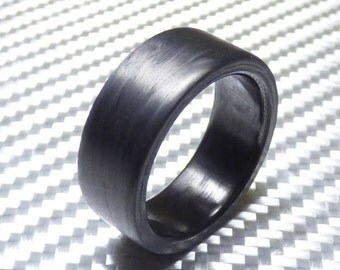 pure carbon fiber ring matte finish engagement ring