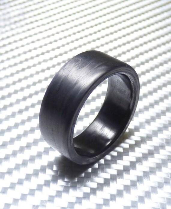 Pure Carbon Fiber Ring Matte Finish Engagement Ring