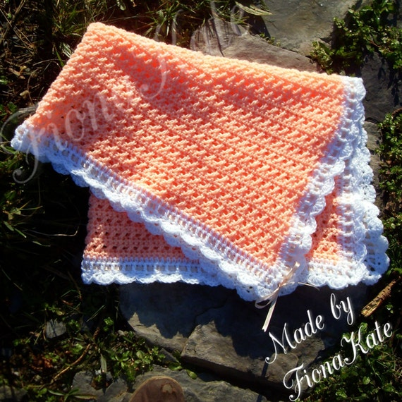 Pretty Cross stitch scalloped edge Crochet by madebyFionaKate