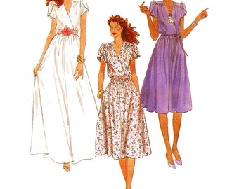 McCalls Sewing Pattern 7987 Misses' and Junior Petite Dress and Tie Belt  Size:  16  Uncut