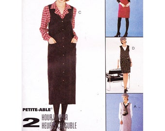 McCalls Sewing Pattern 7878 Misses Jumper and Blouse Size:  C  10-12-14  or  B  8-10-12  Uncut
