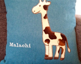 Personalised Giraffe cushion