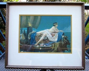 Vintage Lithograph- Cleopatra On The Nile Circa 1920'S