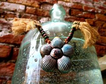 Adjustable Raku Botanical Necklace for Women
