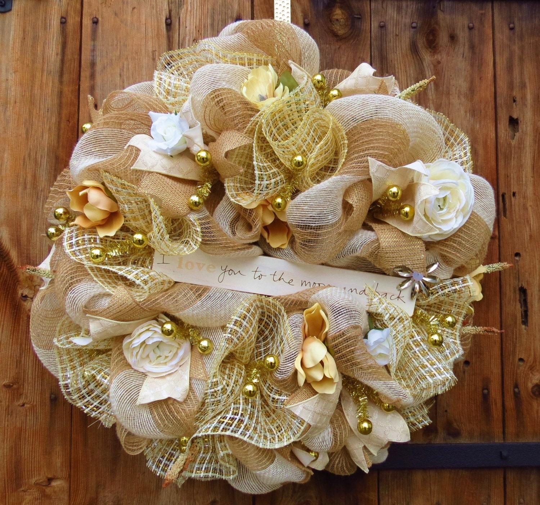 Everyday Deco Mesh Wreath Wedding Deco Mesh By FestivalofWreaths