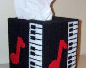 Piano Tissue Box Cover Plastic Canvas Pattern