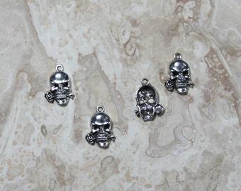 10 ea Skull Charms #2