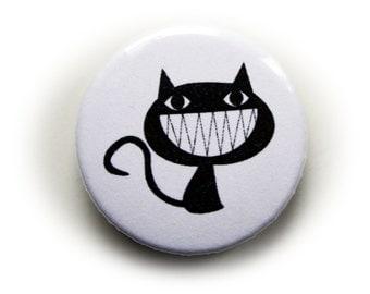 Pinback Button or Magnet or Pocket Mirror or Bottle Opener Cat