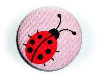 Lady bugs Pinback button or magnet