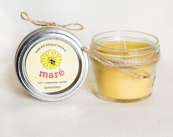 Beeswax Candles: 4 Ounce
