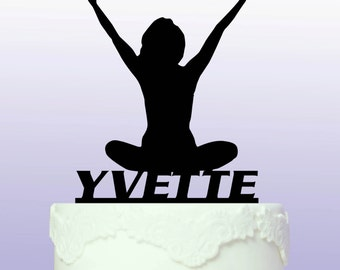 Personalised Yoga Cake Topper