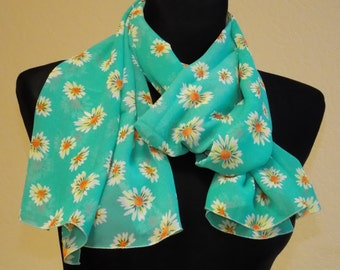 "Silk chiffon scarf  ""HELENE"" -  scarf for women -  scarves"