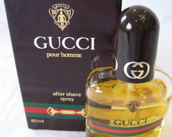 Vintage Gucci Pour Homme After Shave Natural Spray 2.0 fl. oz. 60 ml
