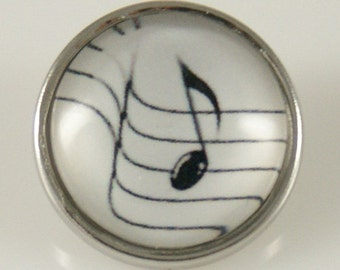 KB2887 Bass or Treble?  Art Glass Print Chunk - Treble Note (Not that Bass)