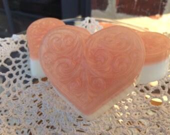 Filigree Valentine Heart Aloe and Goats Milk Soap
